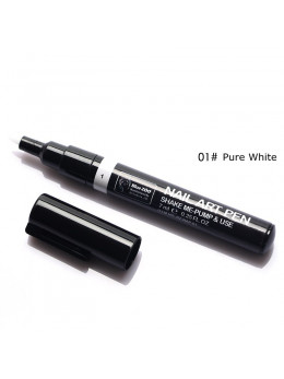 Ручка для 3D дизайну нігтів Blue Zoo 01 Pure White