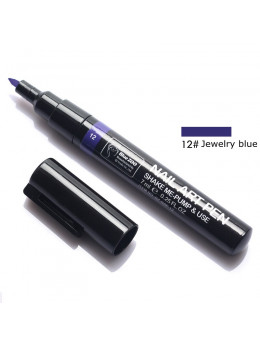 Ручка для 3D дизайну нігтів Blue Zoo 12 Jewelry Blue