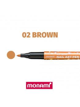 Ручка для дизайну нігтів Monami 02 Brown