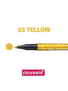 Ручка для дизайну нігтів Monami 03 Yellow