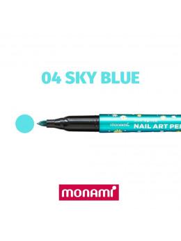 Ручка для дизайну нігтів Monami 04 Sky Blue