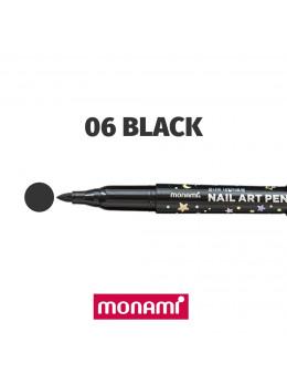Ручка для дизайну нігтів Monami 06 Black
