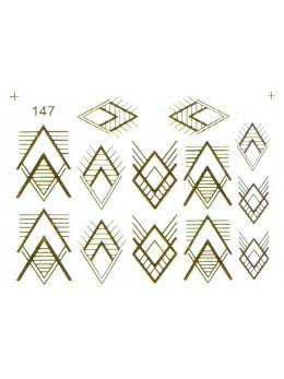 Слайдери для нігтів 147 Золото