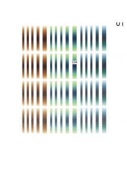 3D Наклейки Joyful Nail Градієнтні кольорові лінії 334