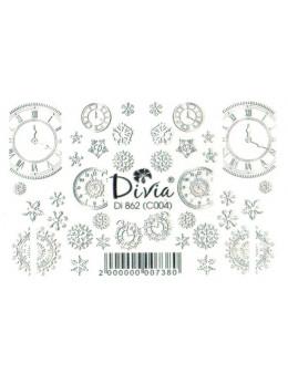 Слайдери для нігтів Divia DI 862 (C004) Білий