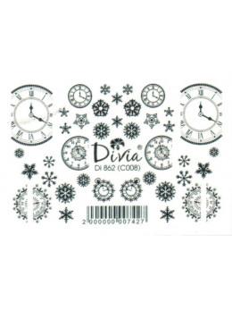 Слайдери для нігтів Divia DI 862 (C008) Чорний