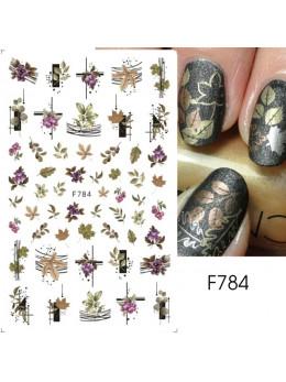 Наклейки для нігтів F784 листя