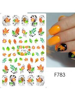 Наклейки для нігтів F783 осінь