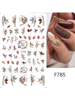 Наклейки для нігтів F785 листя