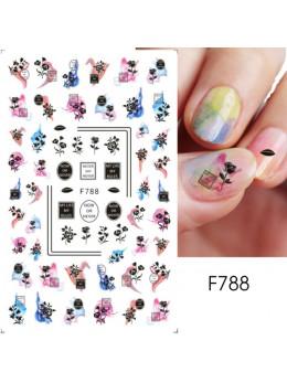 Наклейки для нігтів F788 квіти