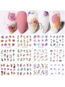 Слайдери для нігтів Harunouta D008-12 штук