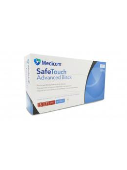 Рукавички нітрилові  Medicom SafeTouch, чорні, неопудрені, S 100 шт