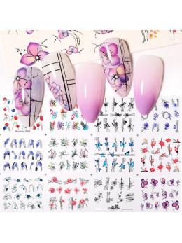Слайдери для нігтів Harunouta D002 - 12 штук
