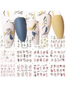 Слайдери для нігтів Harunouta D005 - 12 штук
