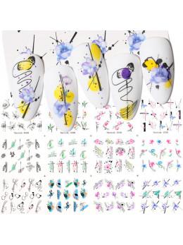 Слайдери для нігтів Harunouta D006 - 12 штук