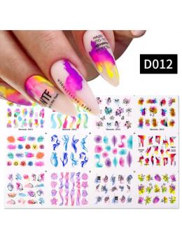 Слайдери для нігтів Harunouta D012 - 12 штук