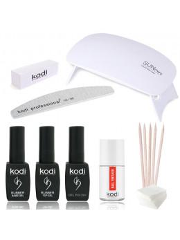 """Набір для покриття нігтів гель-лаком KODI """"Mini One"""" + лампа SUN Mini 6W UV / LED WHITE"""