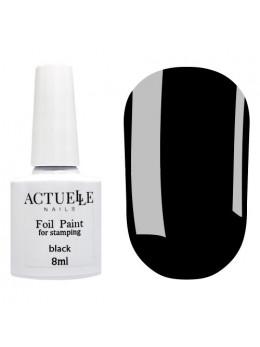 Фарба для стемпінга Actuelle Nails Чорна